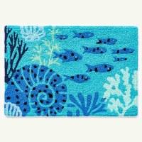 "20"" x 30"" Aquamarine Fish and Coral Rug"