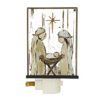 """6"""" Holy Family With Star Night Light"""