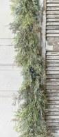 6' Faux Blue Berries and Cedar Garland