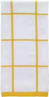"26"" x 16"" T-Fal Lemon Check Cotton Kitchen Towel"