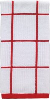 "26"" x 16"" T-Fal Red Check Cotton Kitchen Towel"