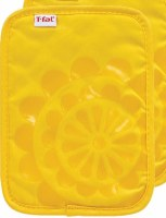 "9"" T-Fal Lemon Cotton and Silicone Medallion Pot Holder"