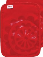 "9"" T-Fal Red Cotton and Silicone Medallion Pot Holder"