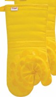 "13"" T-Fal Lemon Cotton and Silicone Medallion Oven Mitt"