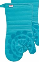 "13"" T-Fal Breeze Cotton and Silicone Medallion Oven Mitt"