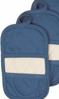 "Set of 2 9"" Ritz Federal Blue Terry Cloth Pot Holder Oven Mitt"