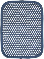 "9"" Ritz Federal Blue Cotton With Silicone Dots Pot Holder"