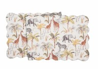 """14"""" x 51"""" Multicolor Nico Safari Quilted Table Runner"""