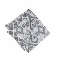 "20"" Square Gray and White Heather Cloth Napkin"
