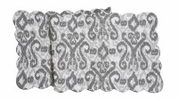 """14"""" x 51"""" Gray and White Heather Quilted Table Runner"""