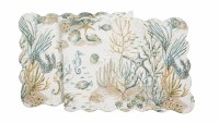 """14"""" x 51"""" Cerulean Shores Quilted Table Runner"""