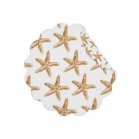 "17"" Round Sandbridge Stars Reversible Scallop Placemat"
