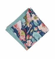 "20"" Square Blue and Pink Flamingo Lagoon Cloth Napkin"