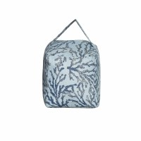 """6"""" Square Two-toned Blue Coral Door Stop With Handle"""