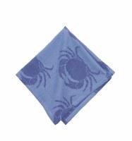 "18"" Square Two-toned Blue Crab Cloth Napkin"