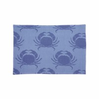 "13"" x 19"" Two-toned Blue Crab Woven Placemat"