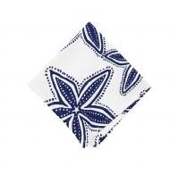 """18"""" Square Navy and White Starfish Cloth Napkin"""