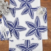 "14"" x 20"" Navy and White Starfish Placemat"