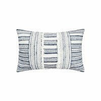 "14"" x 22"" Navy and White Two Way Stripe Lumbar Pillow"