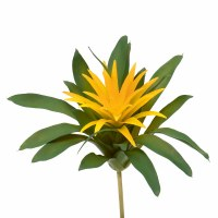 """9"""" Faux Yellow Flower Succulent Spray"""