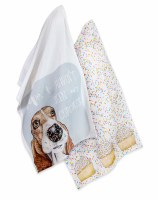 """Set of 2 28"""" x 18"""" Haven't Seen Cupcakes Dog Kitchen Towels"""