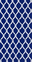 "5"" x 9"" Navy and White Net Knots Guest Towels"