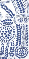 "5"" x 9"" Navy on White Nasia Dots Guest Towels"