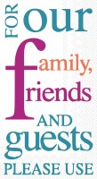 "5"" x 9"" Family Friends and Guests Guest Towels"