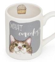 """3"""" Round What Cupcakes Cat Mug"""