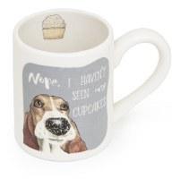 "3"" Round Haven't Seen Cupcakes Dog Mug"