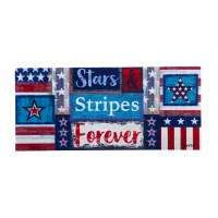 "10"" x 22"" Stars and Stripes Forever Sassafras Doormat"