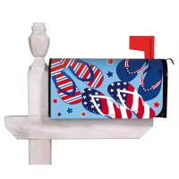 """18"""" x 21"""" Red White and Blue Flip Flop Mailbox Cover"""