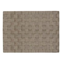 "13"" x 18"" Gray Florence Woven Look Placemat"