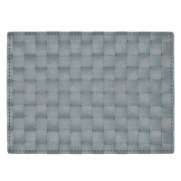 "13"" x 18"" Aqua Florence Woven Look Placemat"