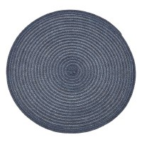 "15"" Round Two-toned Blue Urban Woven Placemat"