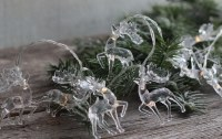 4.5' Clear Reindeer 10 LED Light String