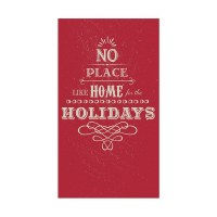 """5"""" x 8"""" Red No Place Like Home Guest Towels"""