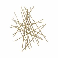 "35"" Gold Metal Rods Abstract Panel Wall Art"