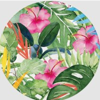 "Pack of 8 7"" Round Floral Paradise Paper Plates"