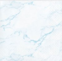"5"" Square Blue Marble Beverage Napkin"