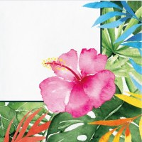 "6.5"" Square Floral Paradise Lunch Napkins"
