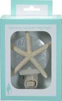 """5"""" White Starfish on White Capiz Shell Night Light"""