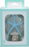 "5"" Blue Starfish on White Capiz Shell Night Light"