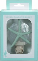 "5"" Green Starfish on White Capiz Shell Night Light"