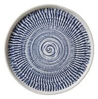 """11"""" Round Blue Tribal Melamine Dinner Plate"""