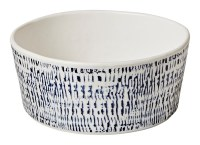 "6"" Round Tribal Blue Melamine Soup Bowl"