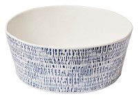 "10"" Round Tribal Blue Melamine Serving Bowl"