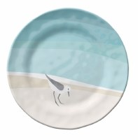 """6"""" Round Sandpipers Melamine Appetizer Plate"""
