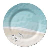 "11"" Round Sandpipers Melamine Dinner Plate"