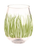 15 oz Seagrass Acrylic Stemless Wine Glass